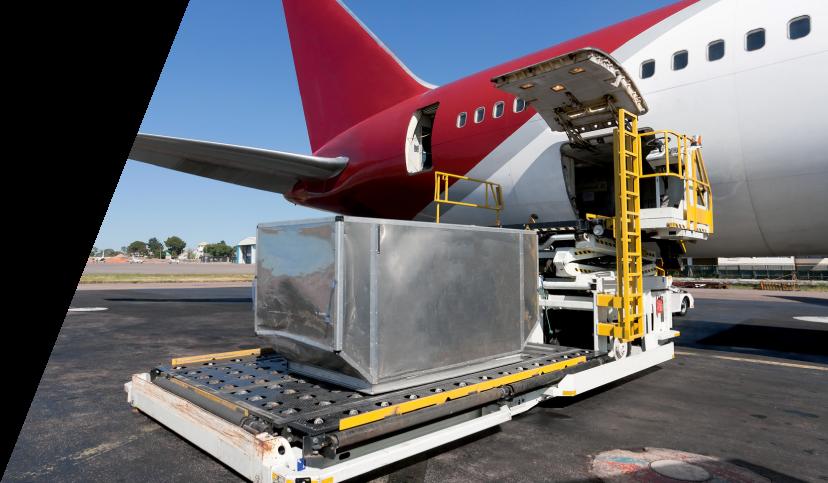 Transporte aéreo de importación y exportación